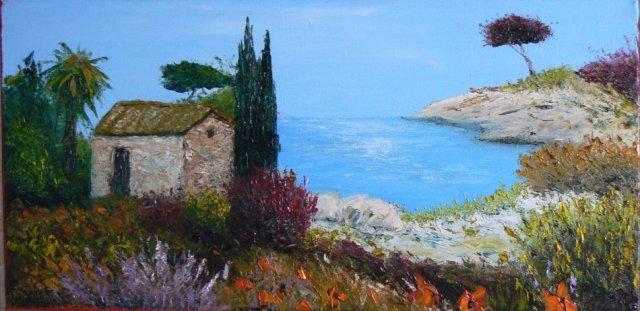 Peinture Paysage de Provence