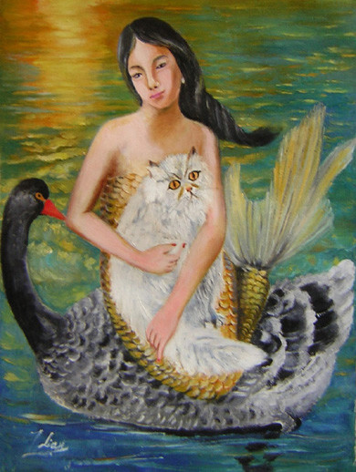 mermaid and black swan