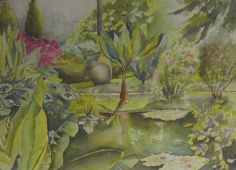 Peinture jardins exotiques for Art jardin neufchateau