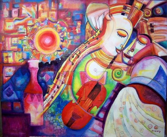 Couple au violon