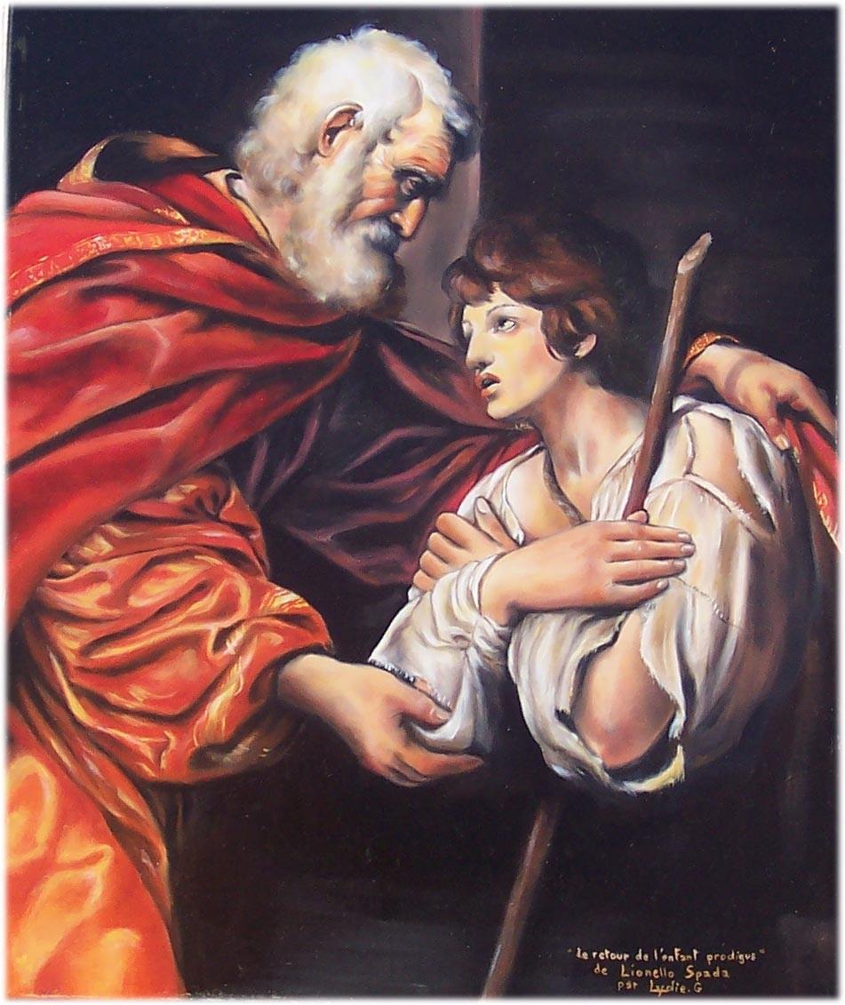 Peinture Le retour de l'enfant prodigue