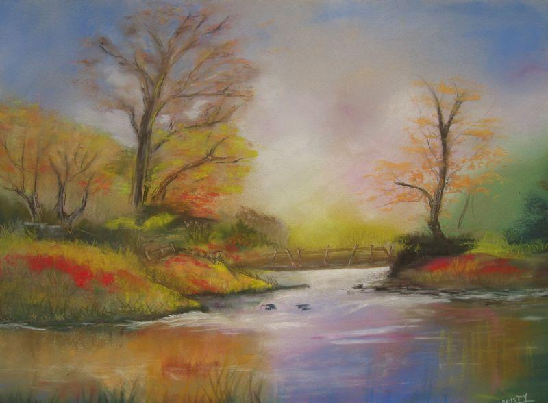 Dessin lumi re d 39 automne - Paysage d automne dessin ...