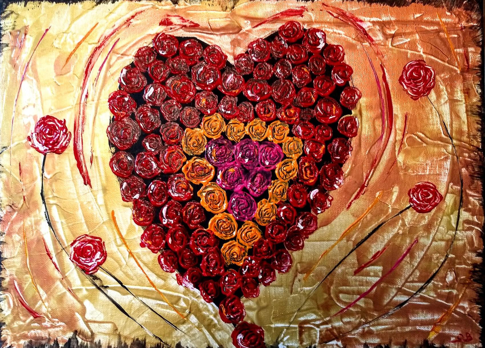 Coeur de rose ( spécial st Valentin)