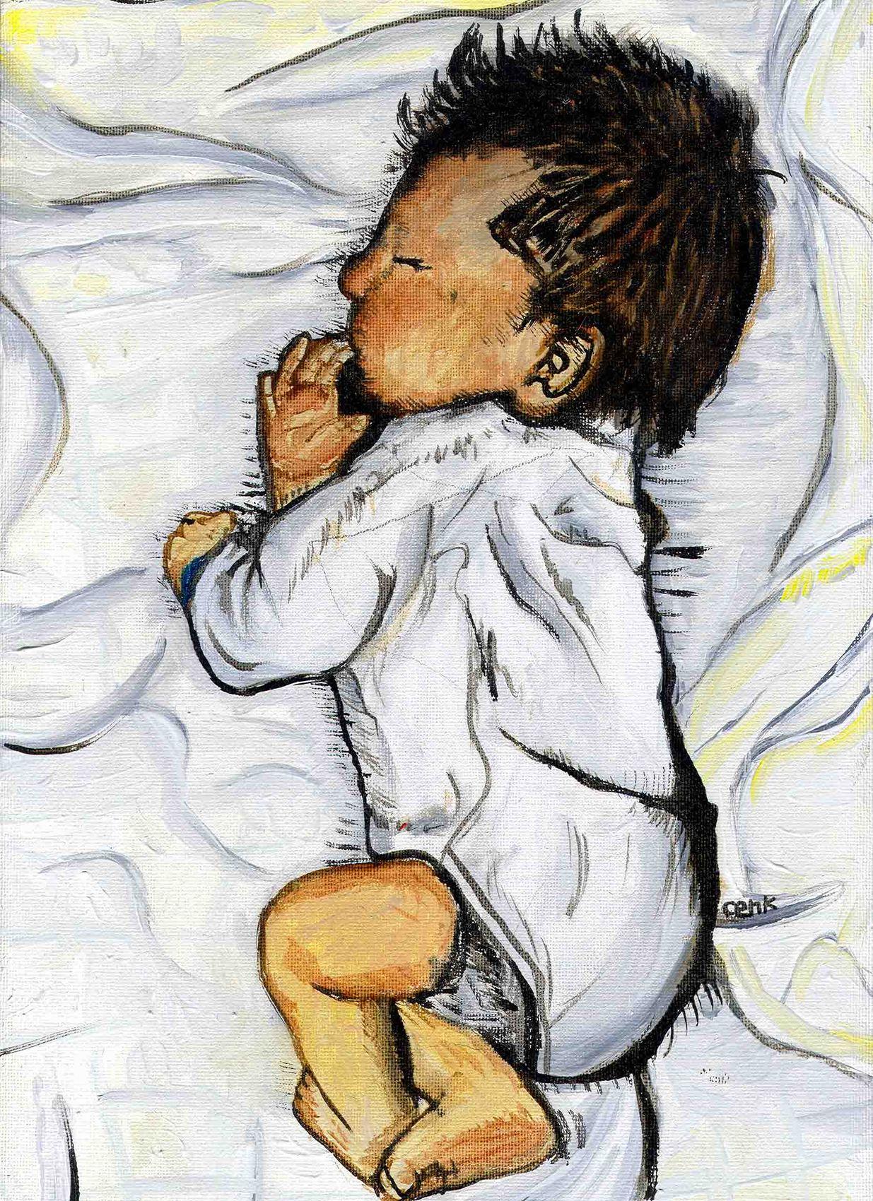 Peinture Le nouveau né