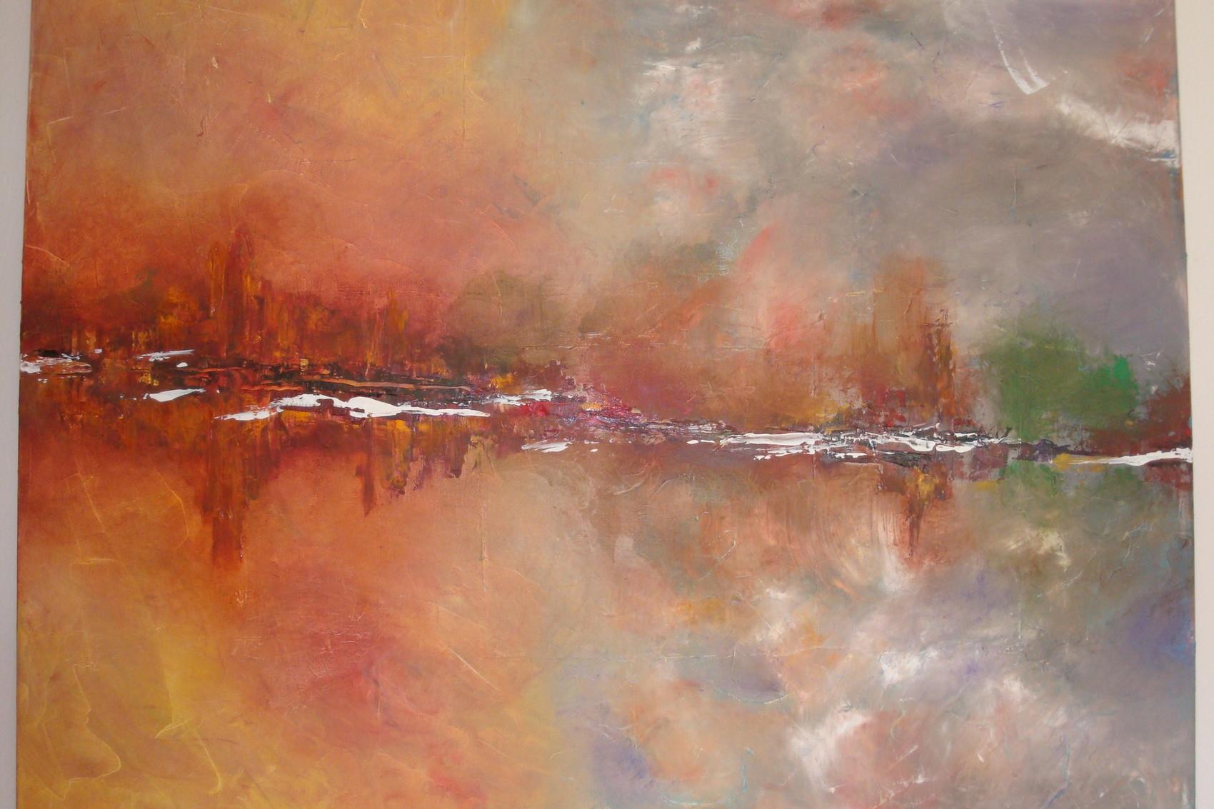 Peinture impression orage Peinture impression