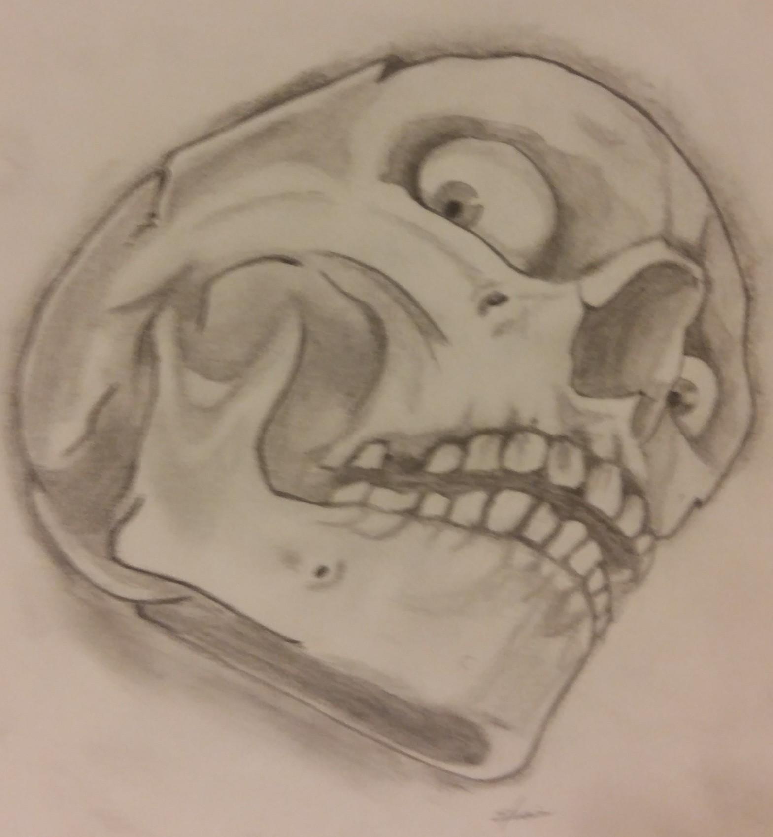 Tête de mort - crayon papier n°5