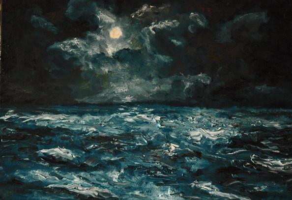 Peinture entre mer et ciel for Tableau sur la mer