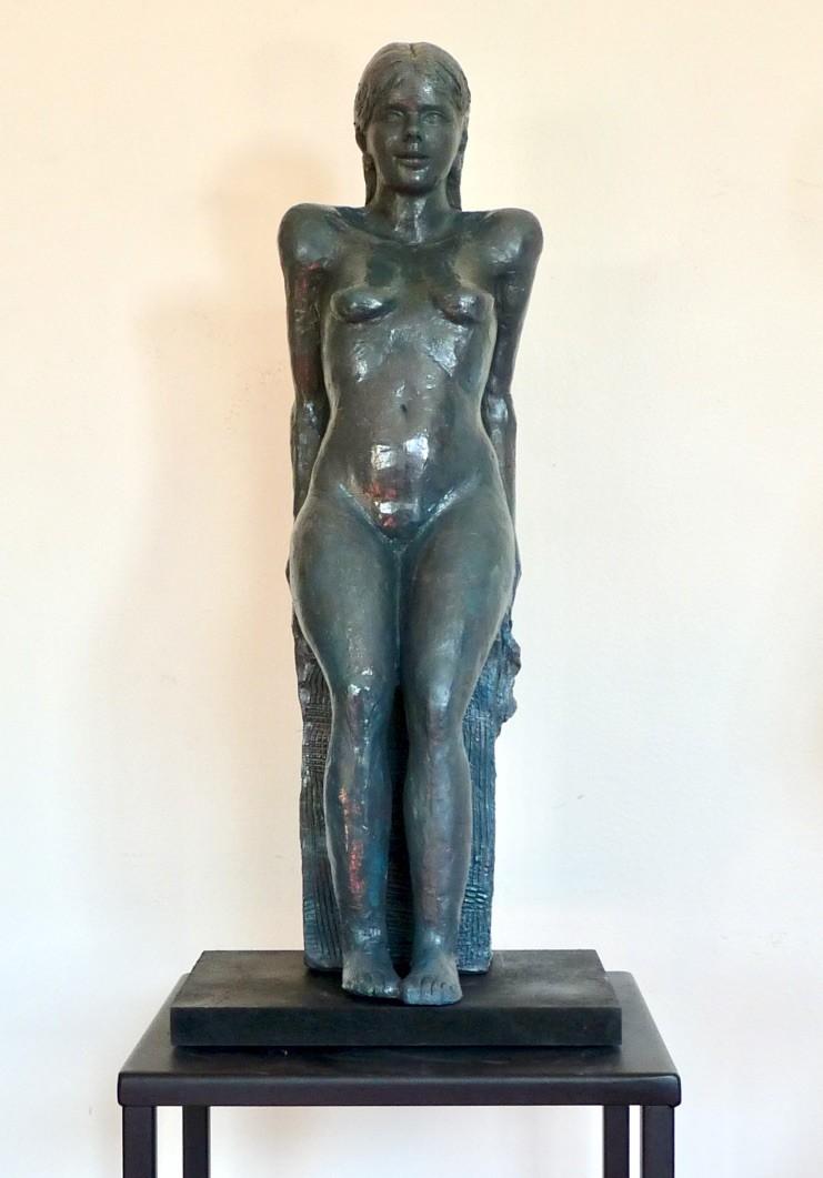 sculpture claudia statue sculpture terre cuite art du nu design couleur bronze. Black Bedroom Furniture Sets. Home Design Ideas