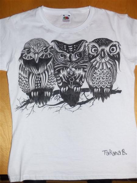 T shirt Hiboux