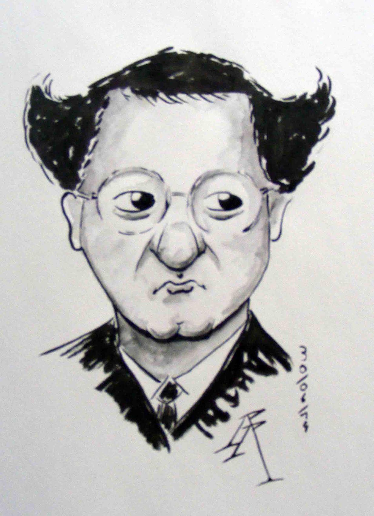 caricature de coluche
