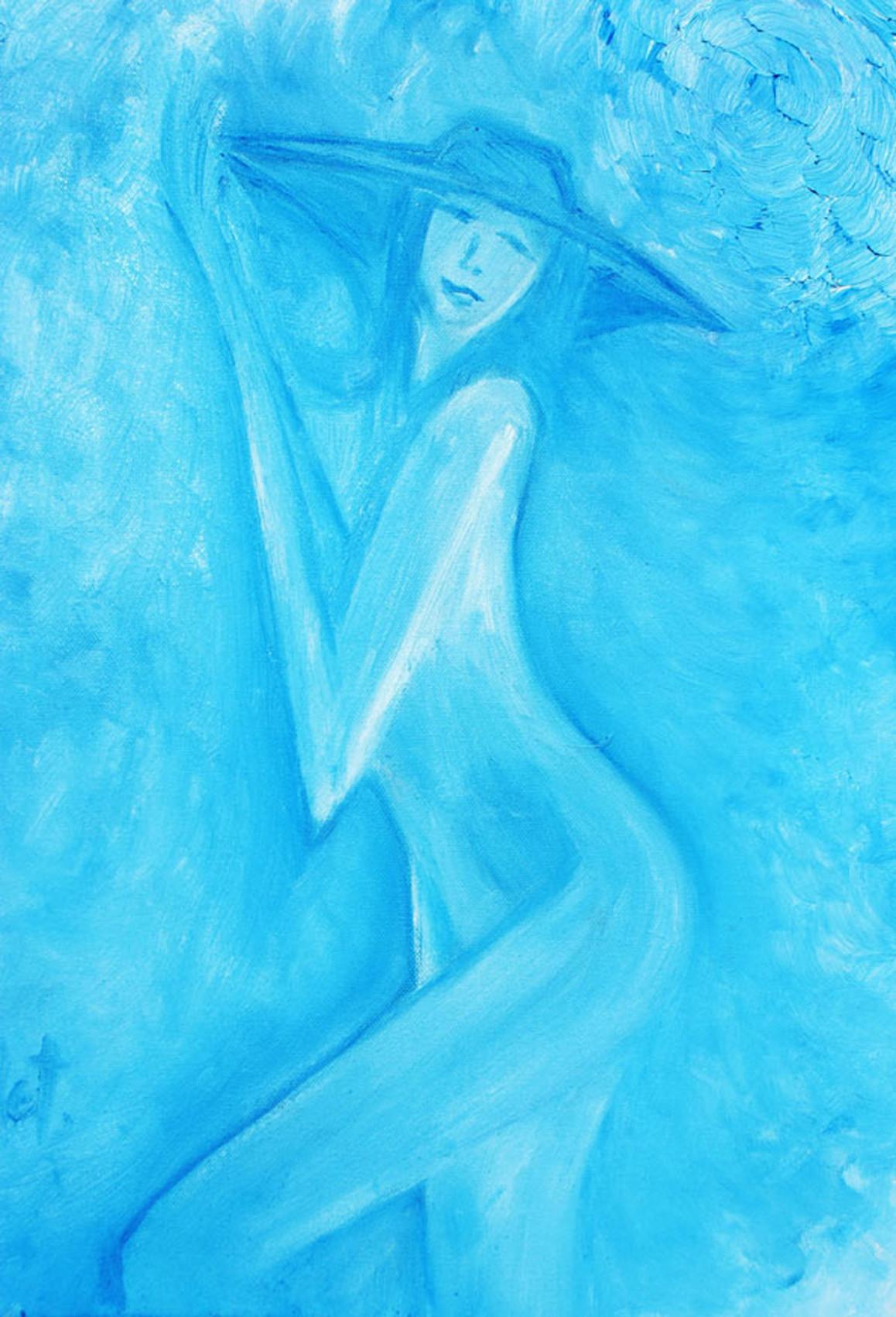 elle en bleue