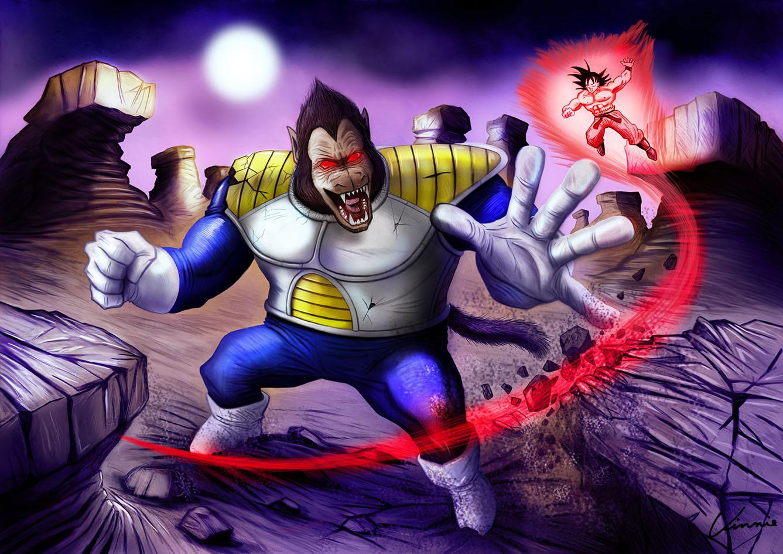 Oozaru Vegeta VS Goku