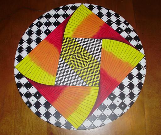 Peinture illusion d 39 optique for Illusion d optique peinture