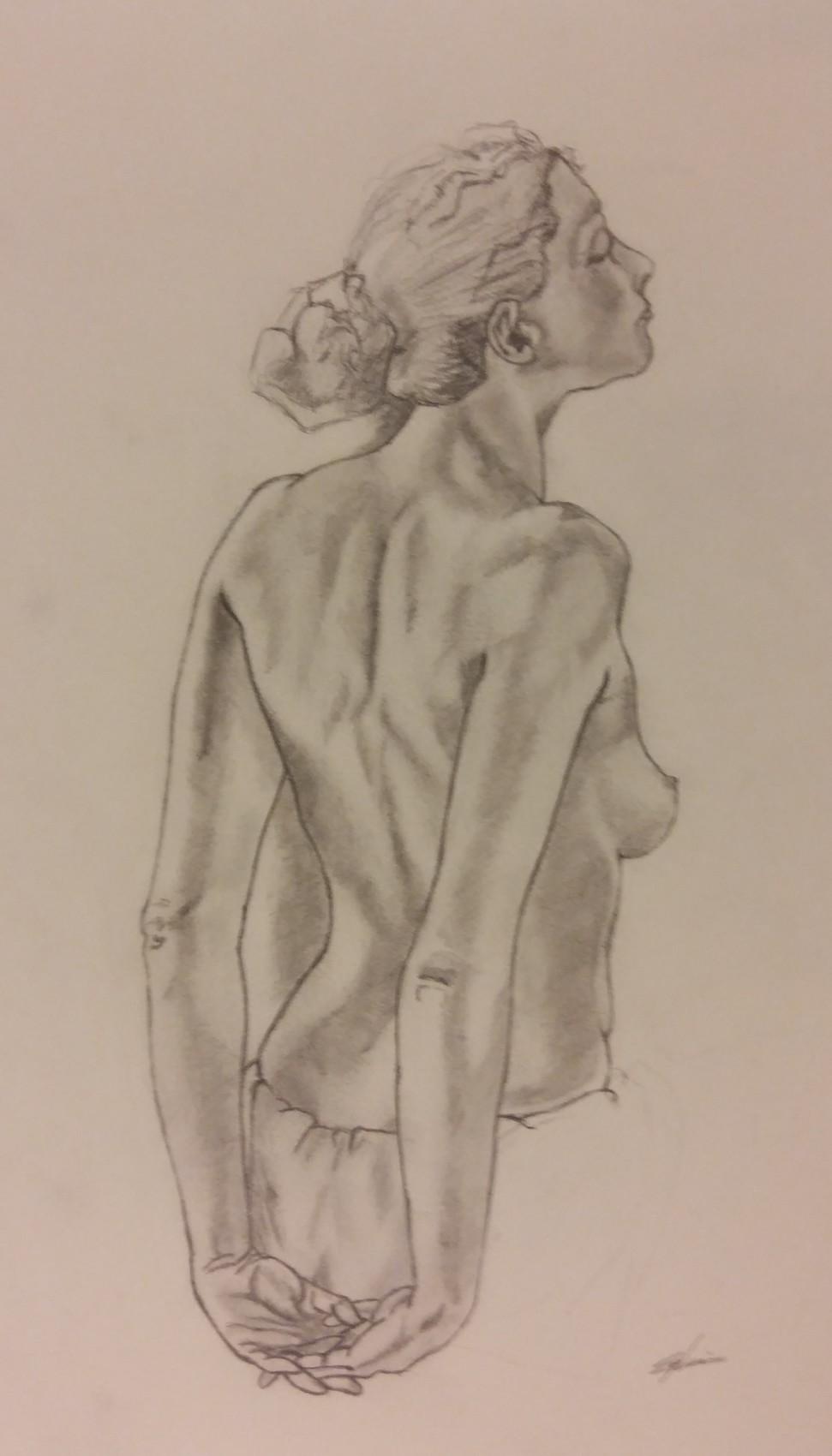 Nue - crayon papier n°1