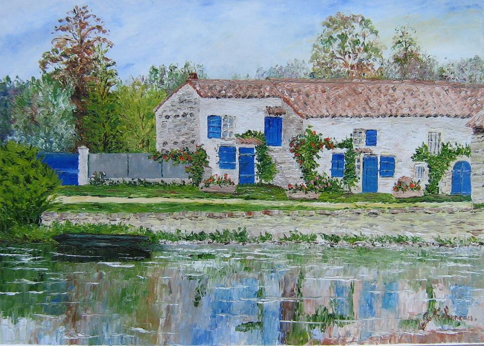 Peinture la maison du marais for La maison de marnais