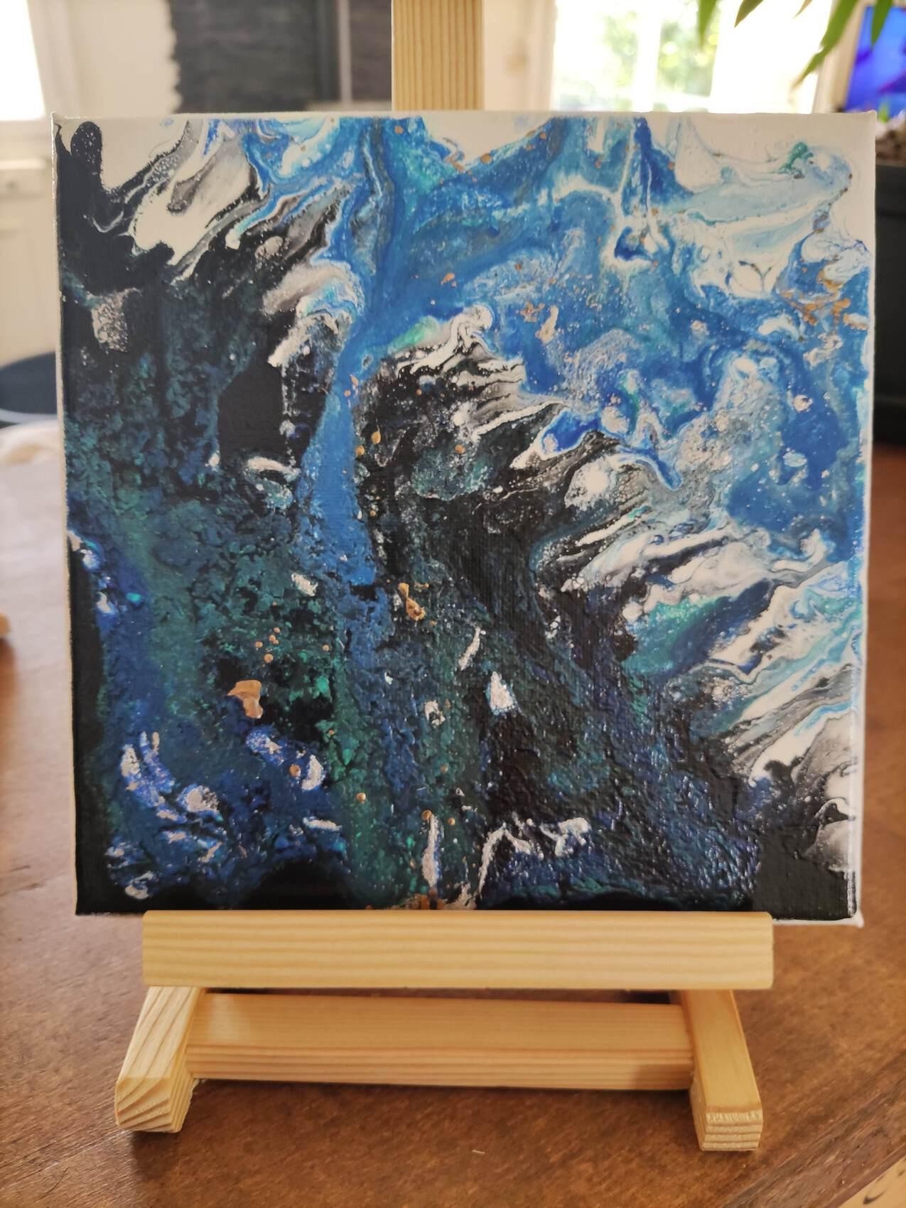 Mer peinture abstraite