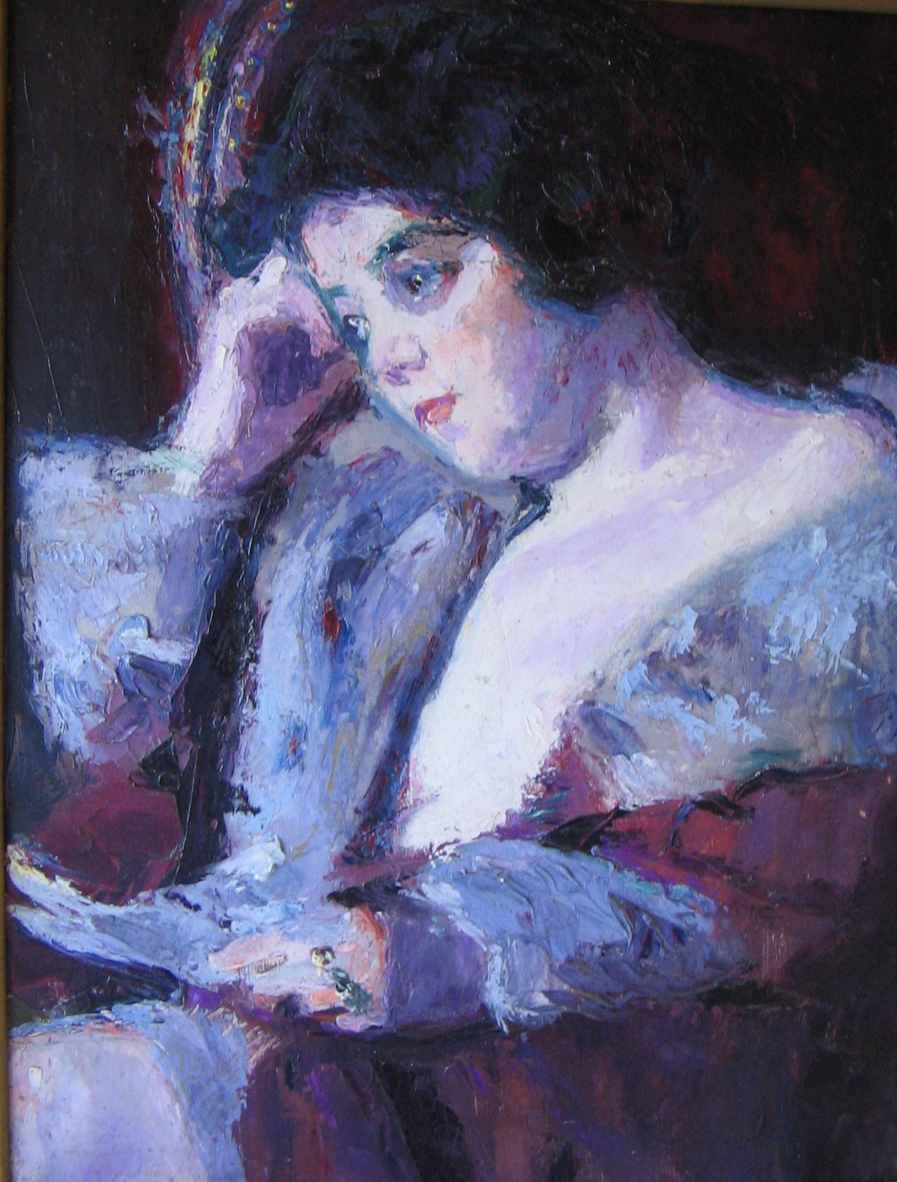 Jeune femme à la lettre