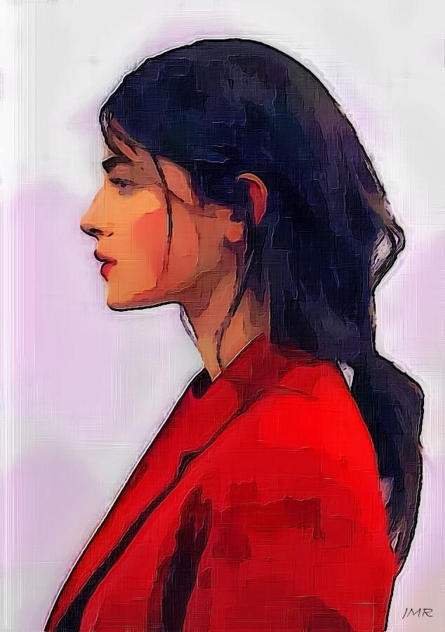 Profil jeune femme