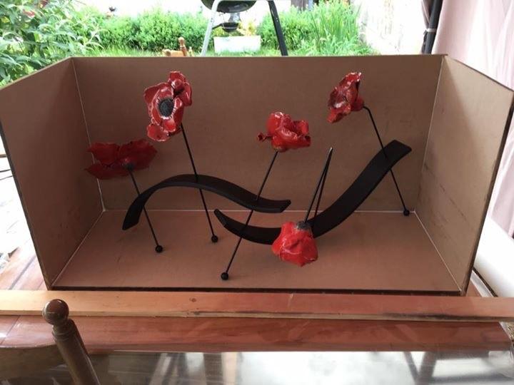 coquelicots raku rouge 1050°