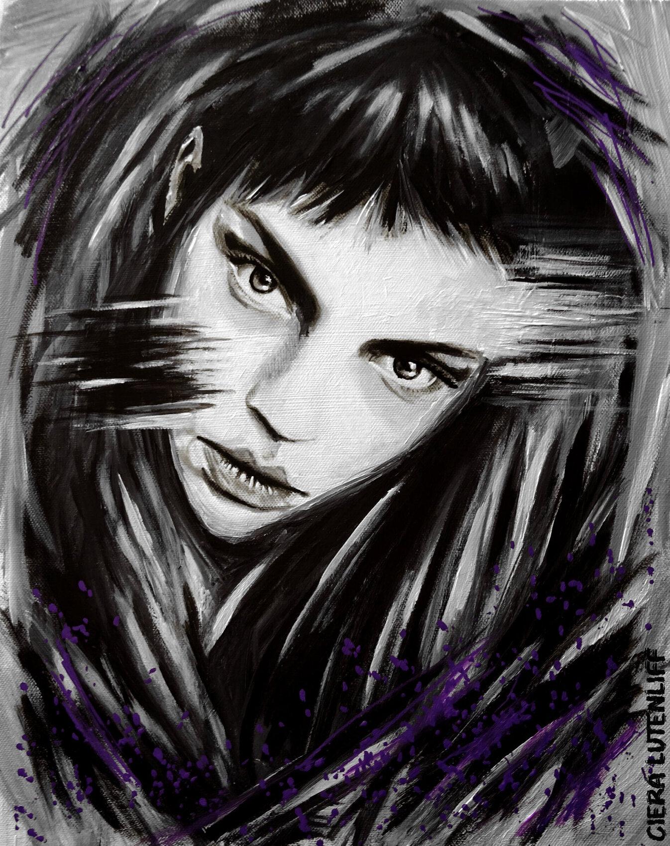 portrait acrylic