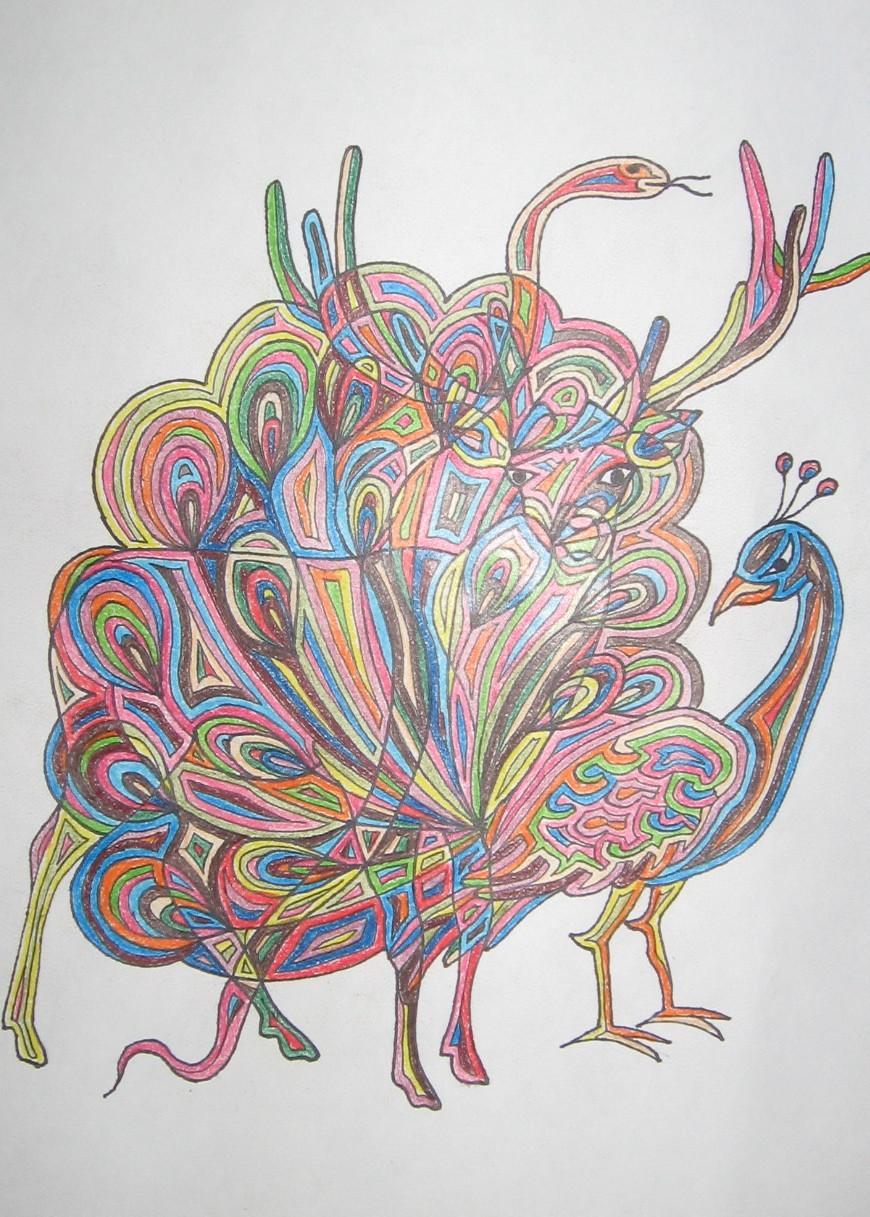 Dessin cerf paon - Animal a dessiner ...