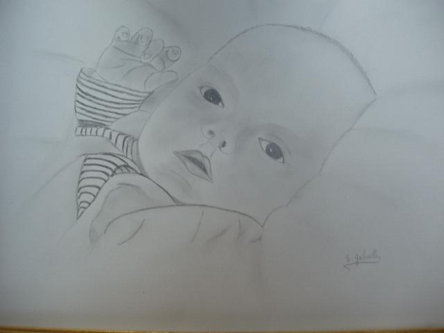 enfant au crayon