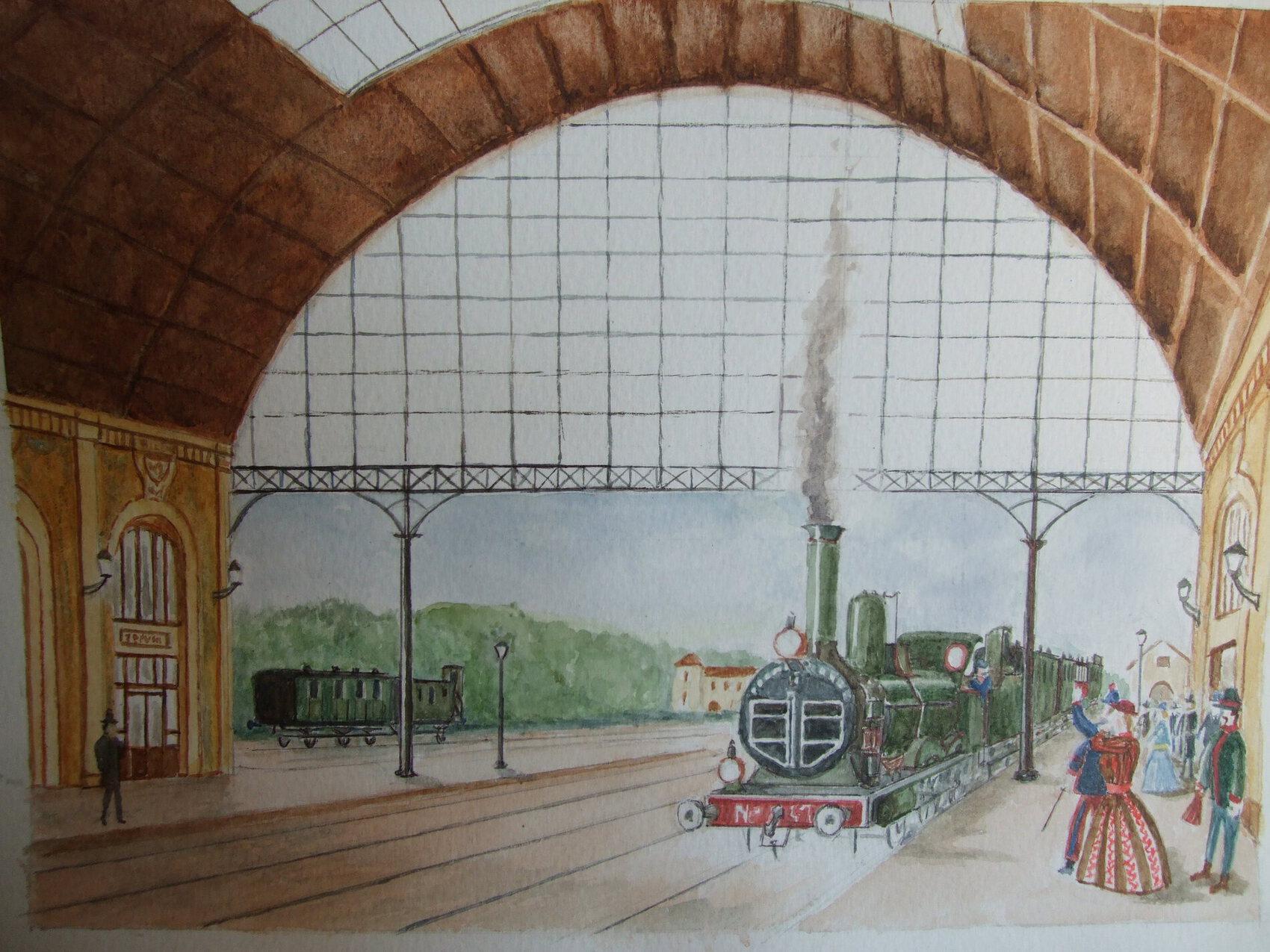 L'arrivée du train d'Italie