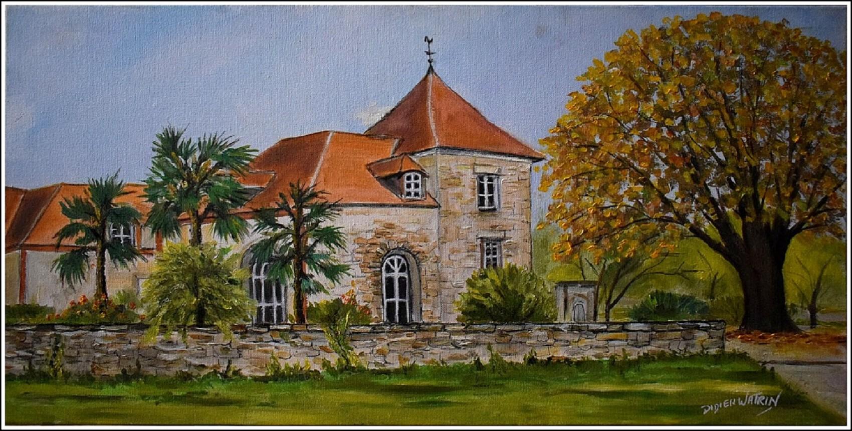 Maison dans le parc de la maison rouge à Villiers sur orge (peint à la fête de la peinture)
