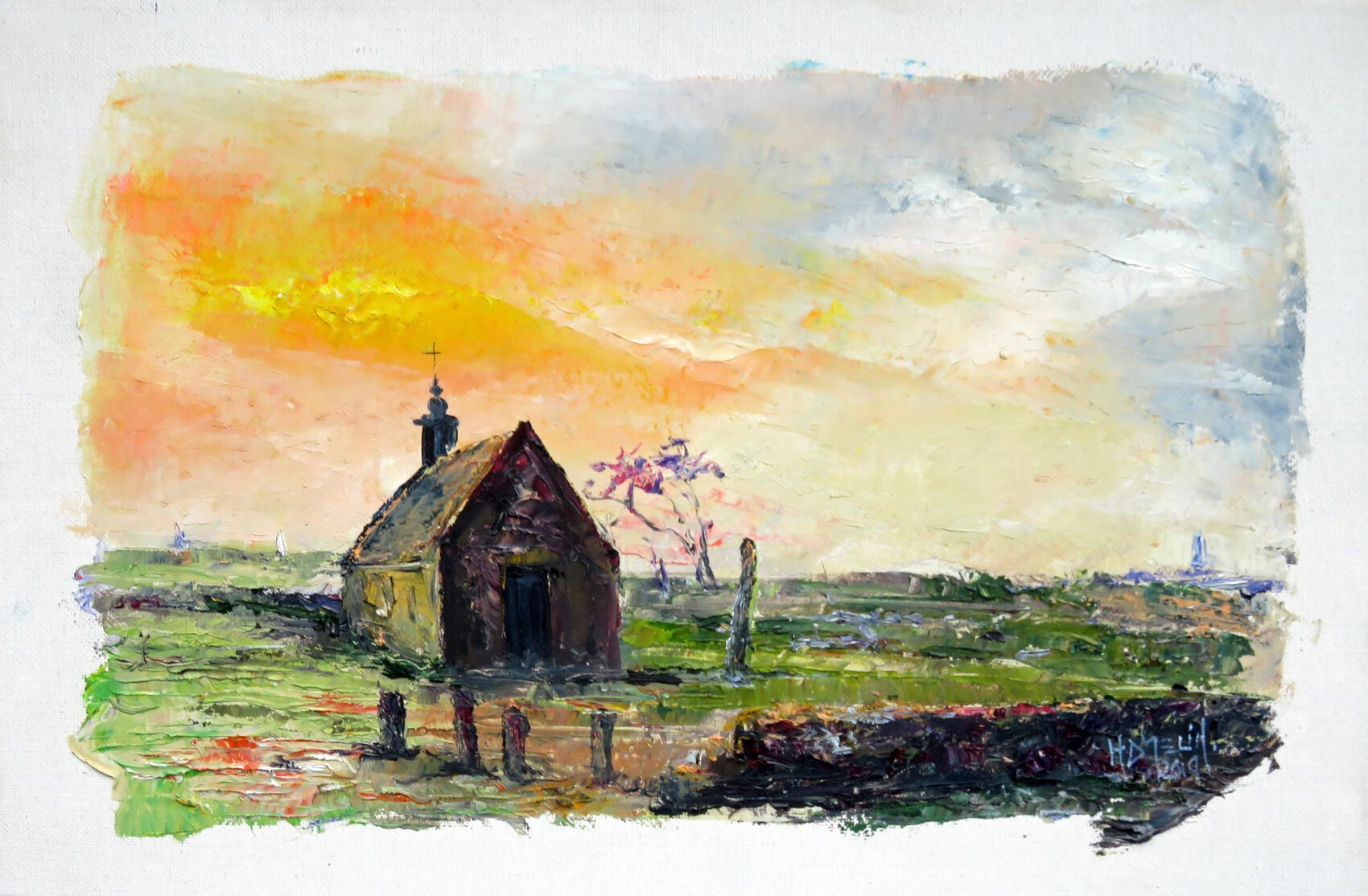 La chapelle St Corentin sur l'ile de Sein