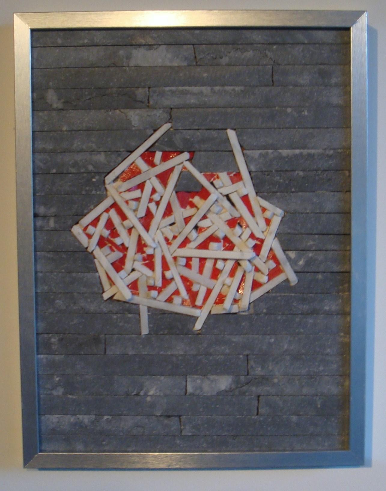 peinture tesselles rouge blanc de carrare pierre bleu. Black Bedroom Furniture Sets. Home Design Ideas
