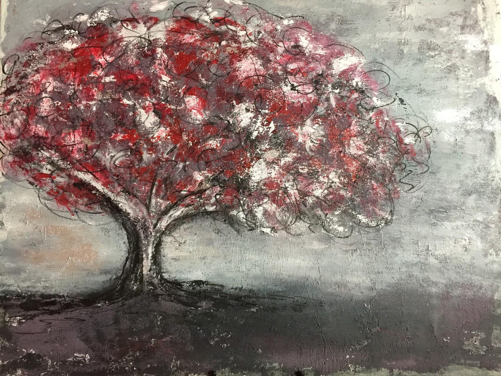 Sad cherry blossom