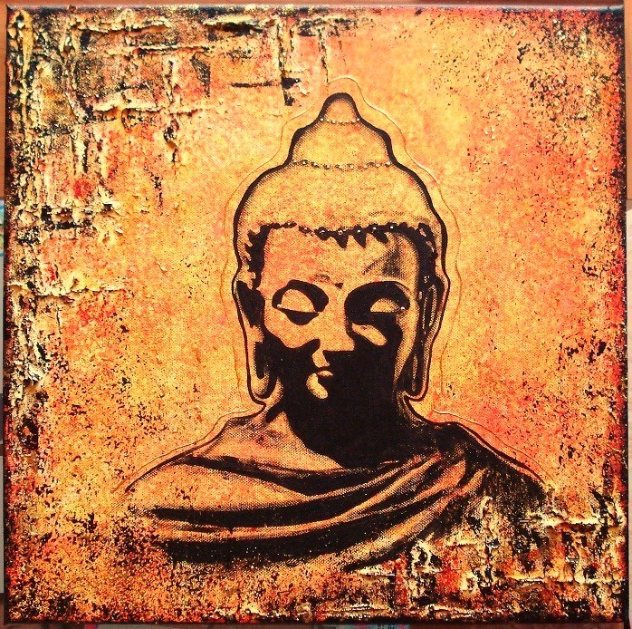Peinture bouddha - Peinture sur toile bouddha ...