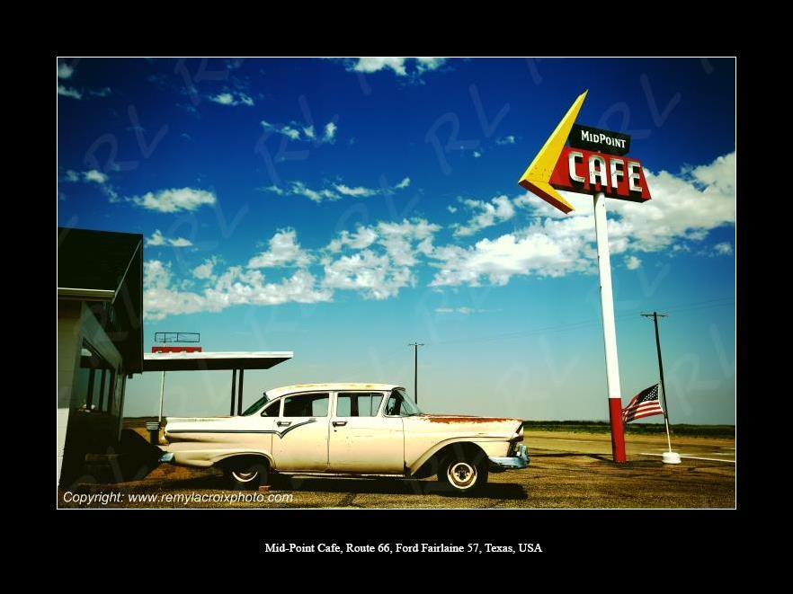 Route 66, Midpoint Cafe !