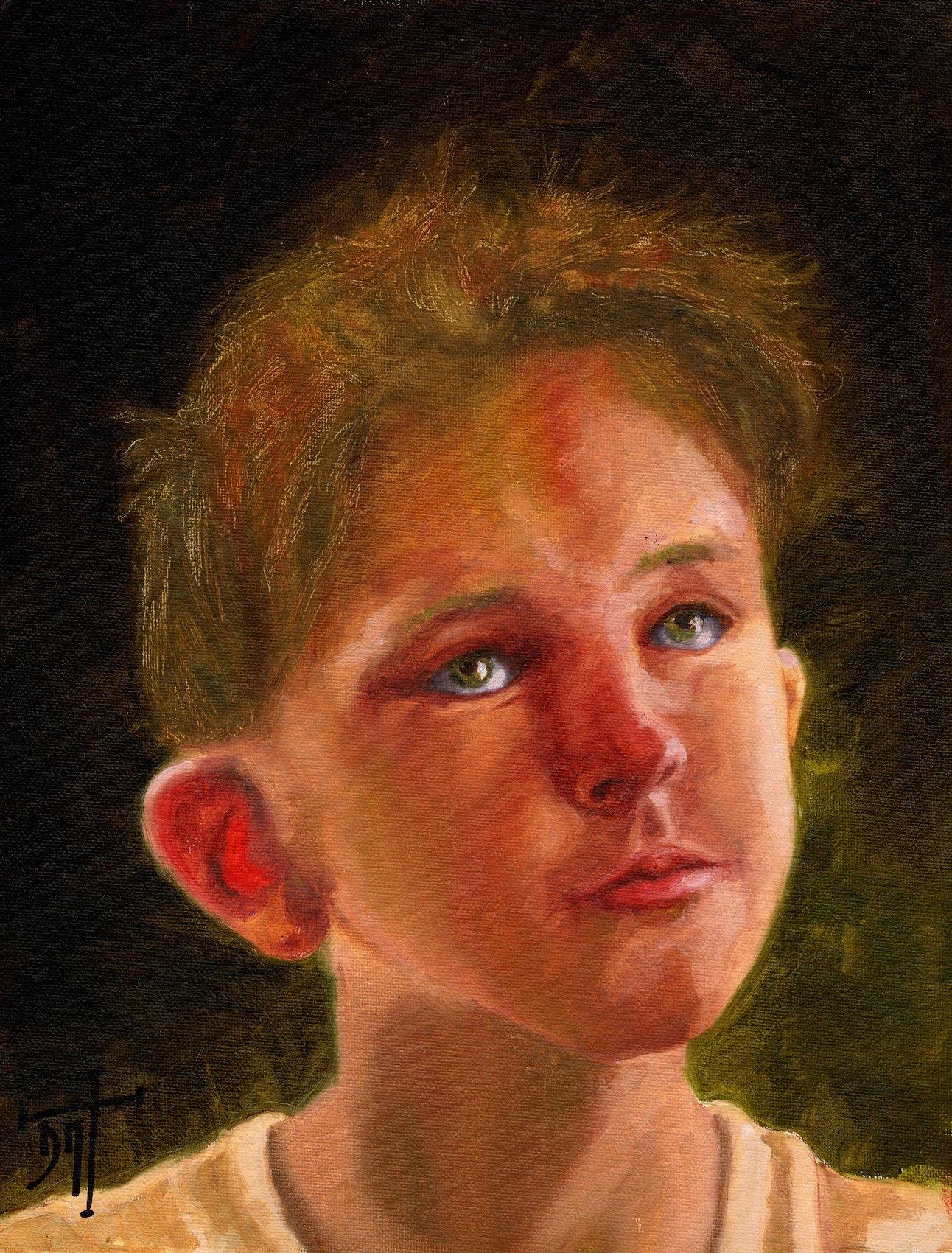 Study child portrait By EmiliO N°129