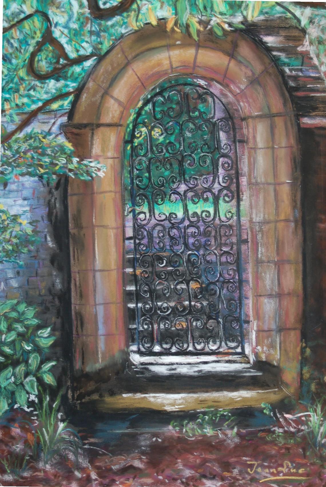 Peinture vers le jardin de dinar for Vers de jardin