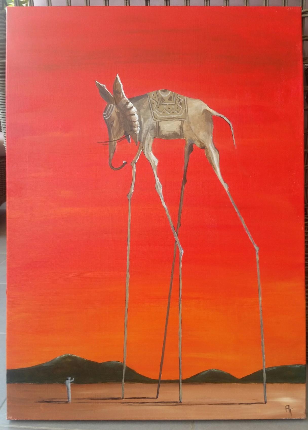 d61c2c30c41 Peinture Elephant de Dali