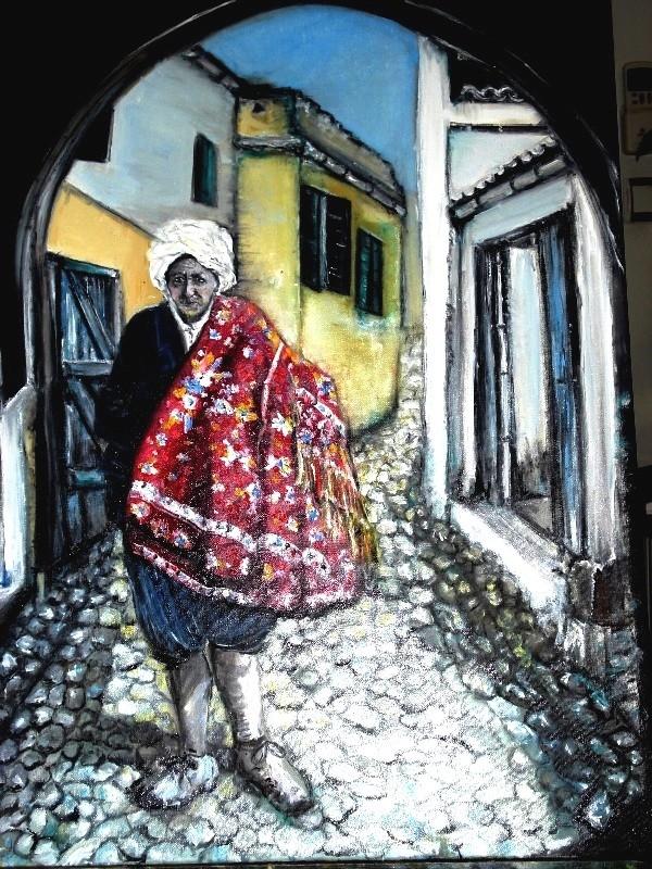 Peinture Un Marchand de tapis