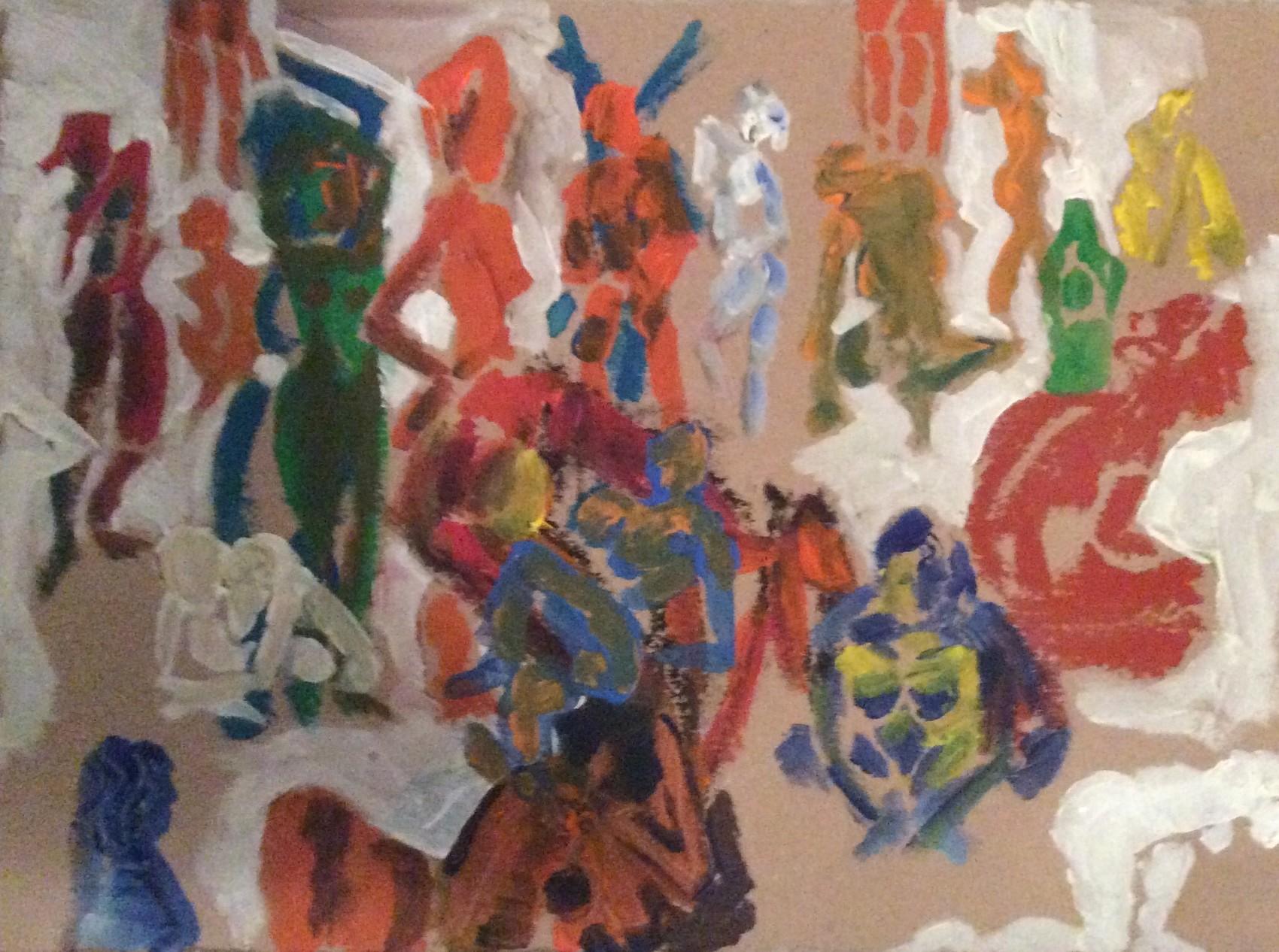 Peinture bain turc pour yves le meunier de craca for Peinture pour le bain
