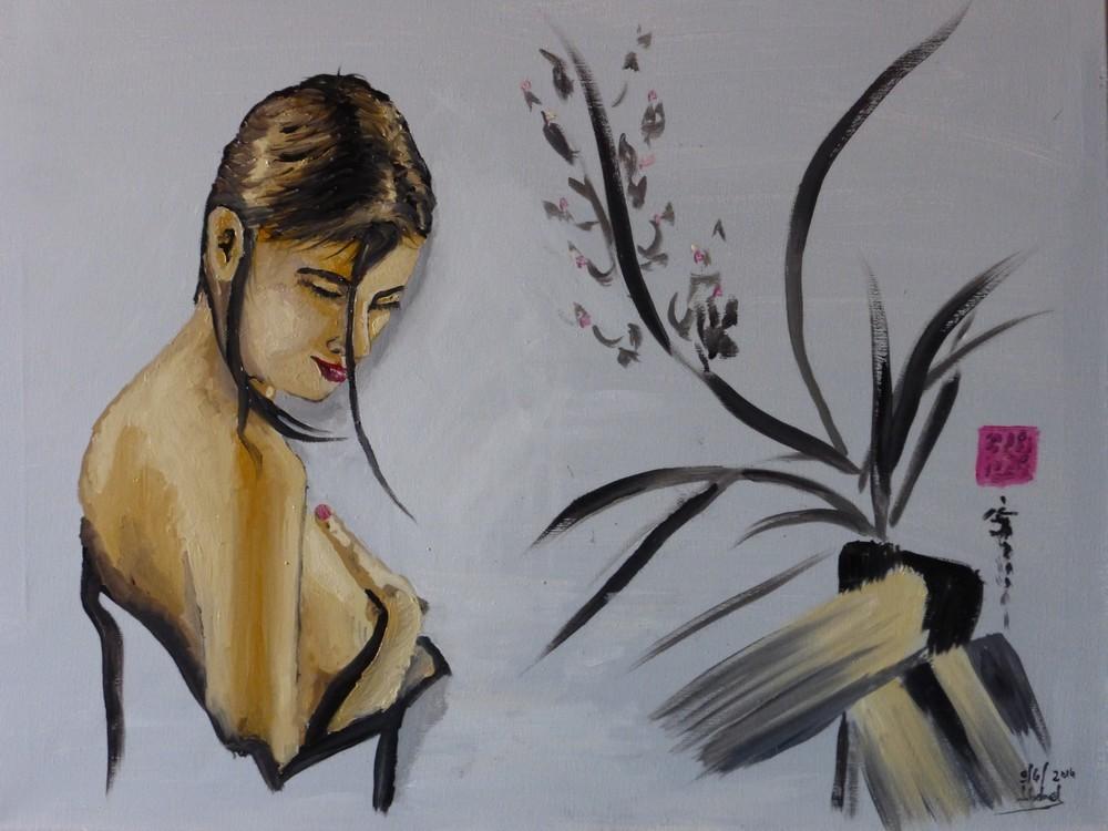 Zen: femme à la mèche