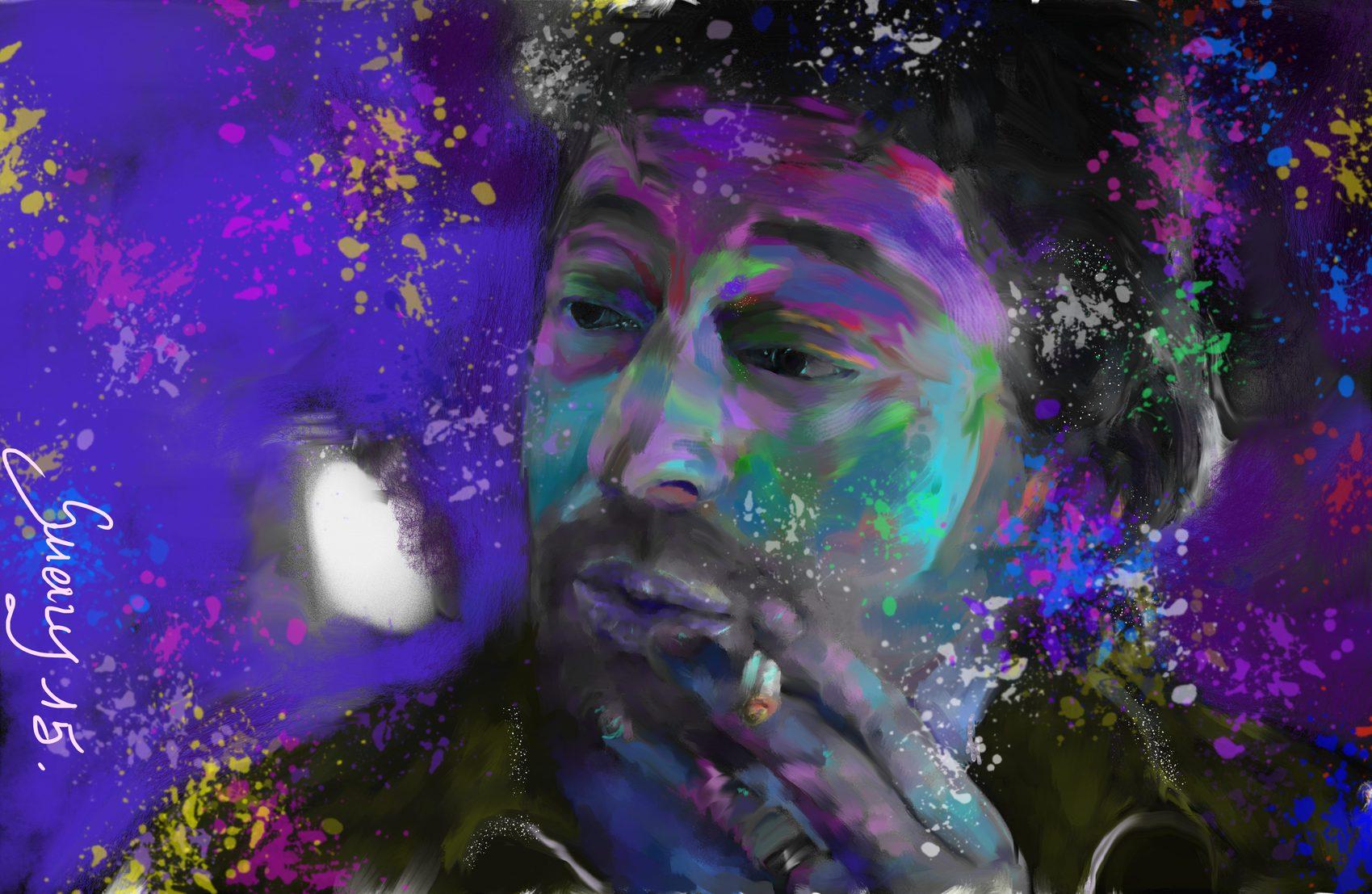 "Peinture ""Serge Gainsbourg 1981-2015"""