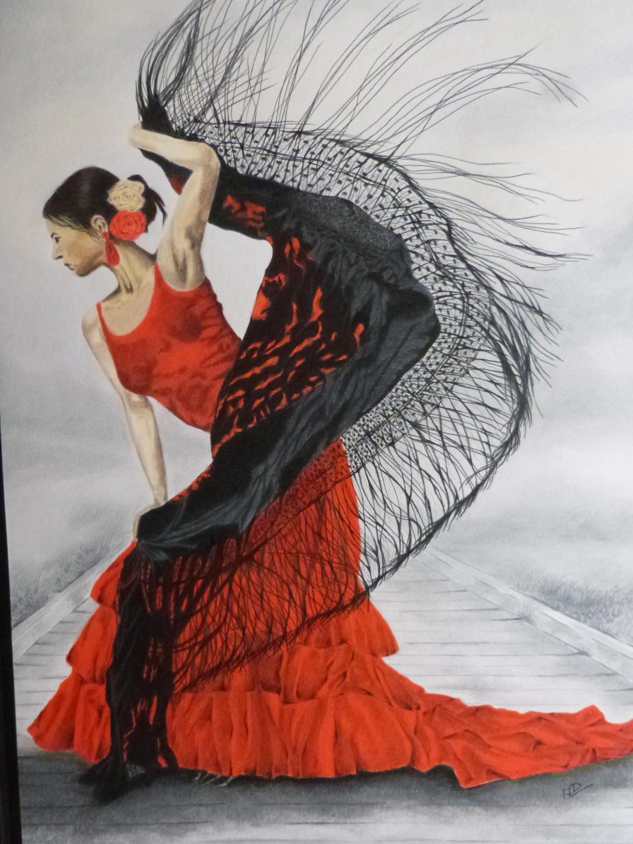 Dessin danseuse flamenco - Danseuse flamenco dessin ...