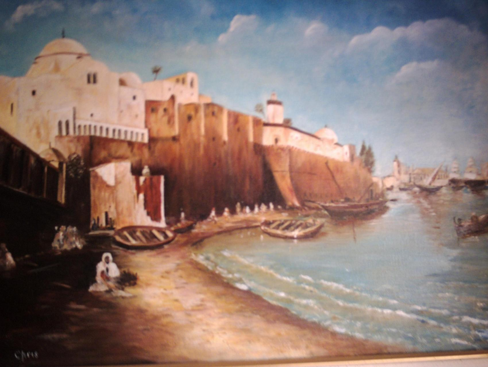 Peinture alger 1885 for Peinture satinee algerie