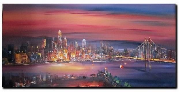 Peinture PEINTRE ROBERTO - My love New-York