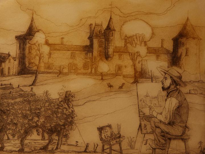 H. de Toulouse Lautrec peignant Malromé