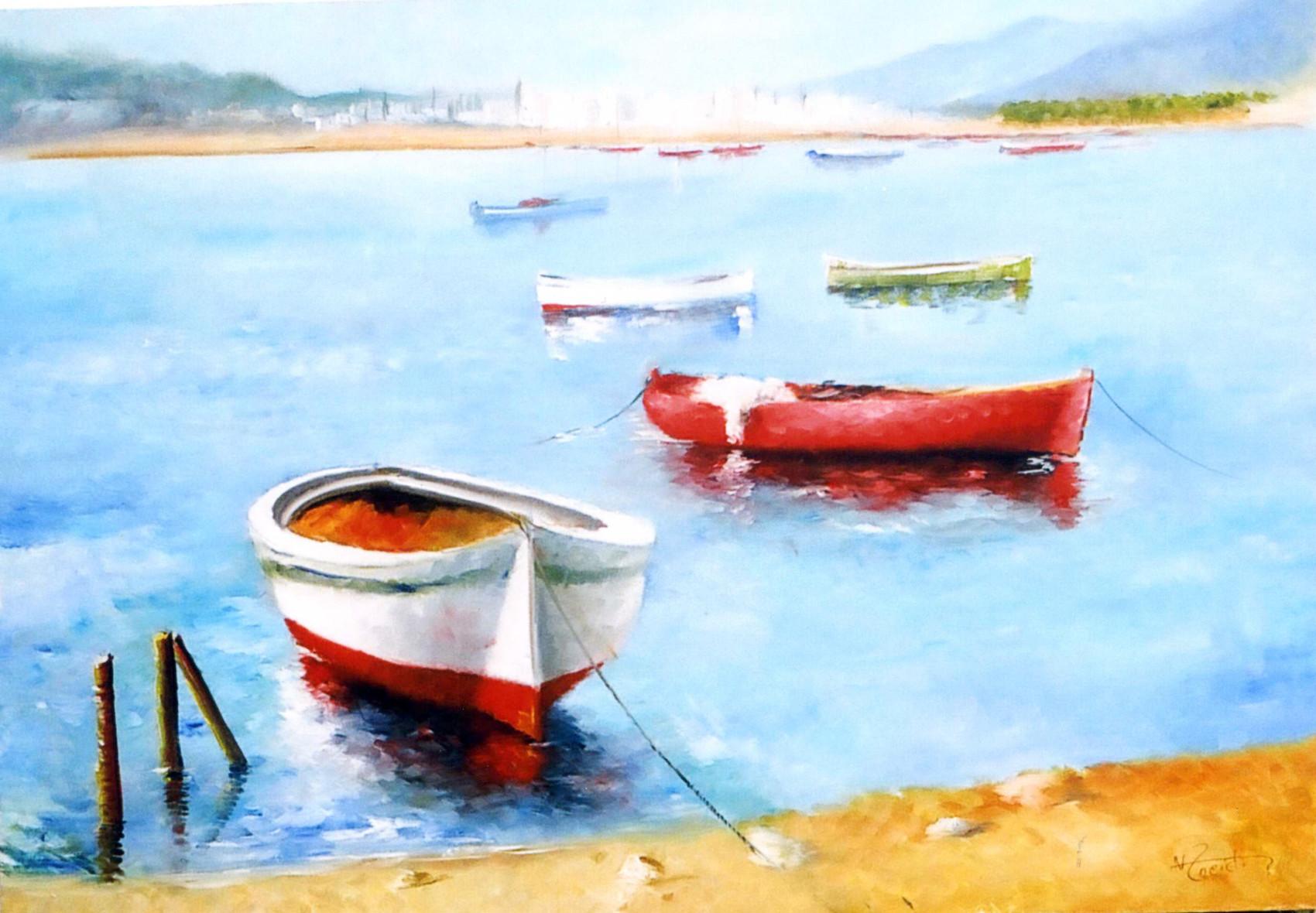 Peinture l t indien for Agessa ou maison des artistes