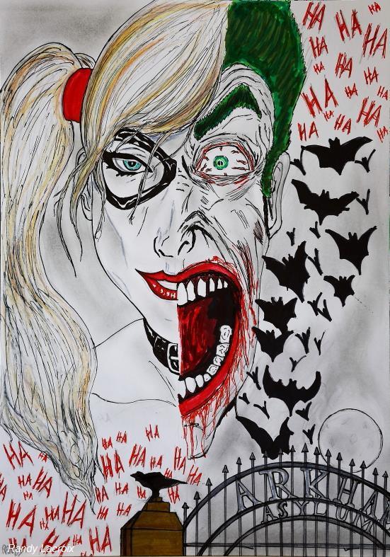 Dessin harley quinn the joker - Le joker dessin ...