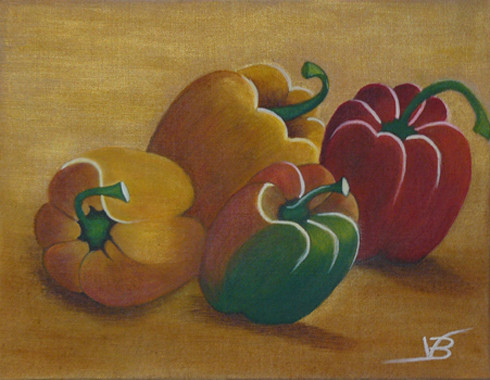 Peinture Légumes