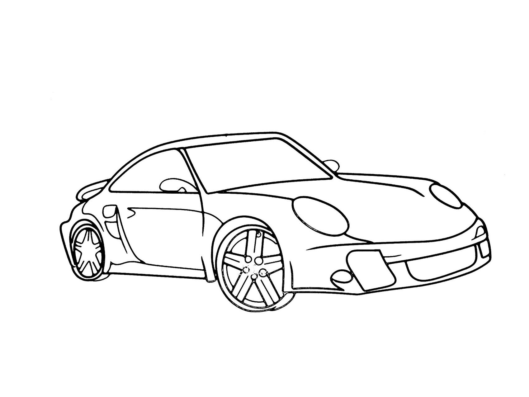 Dessin porsche - Dessin voiture profil ...