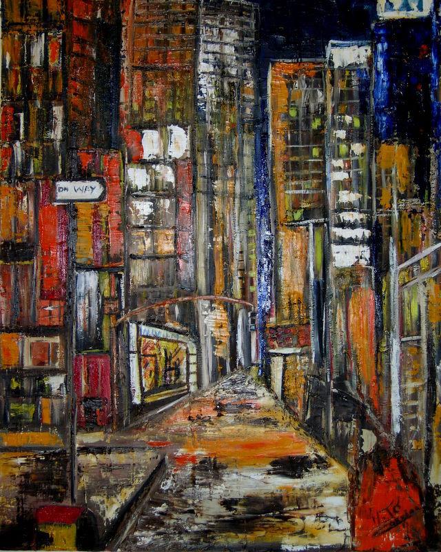 Peinture new york for Building sans fenetre new york