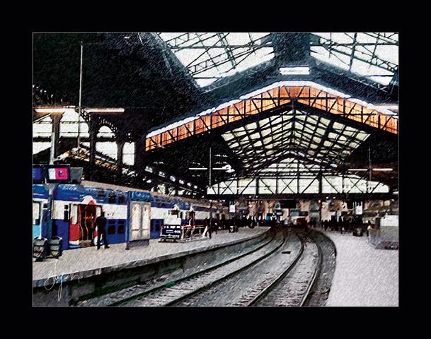 Peinture quai 13 gare saint lazare for Exterieur quai gare de l est